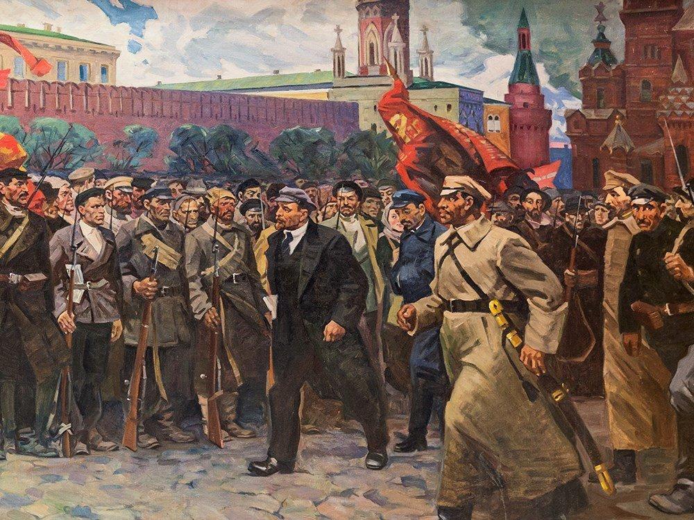 M. F. Kholuev, Lenin Leading the Bolsheviks, Oil, c.