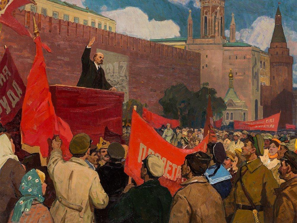 Porfiriy Matveyev Mishenko (b. 1918), Lenin's Speech, - 2