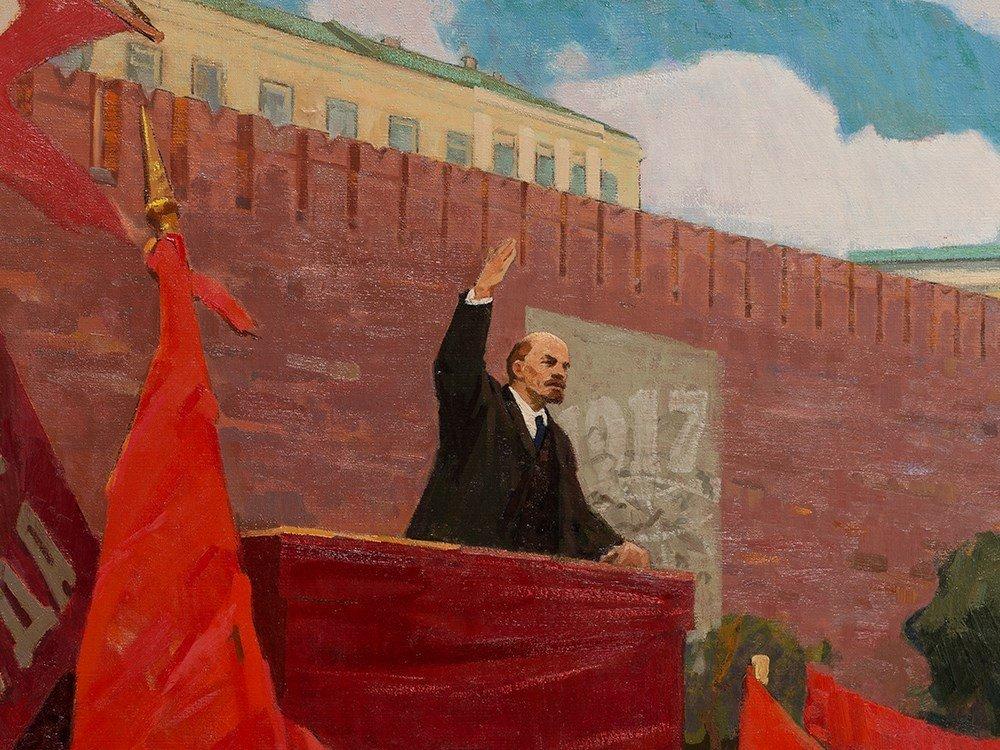 Porfiriy Matveyev Mishenko (b. 1918), Lenin's Speech, - 4