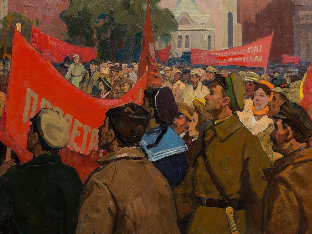 Porfiriy Matveyev Mishenko (b. 1918), Lenin's Speech, - 5