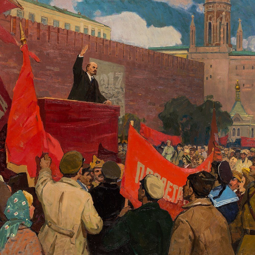 Porfiriy Matveyev Mishenko (b. 1918), Lenin's Speech, - 9