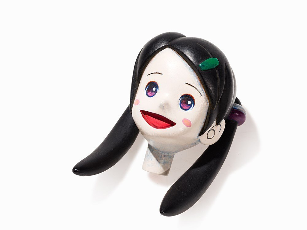 Iwamoto Masakazu (b. 1969), Girl's Head, Sculpture,