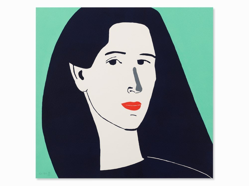 Alex Katz, Diana, Linocut in Colors, 2014