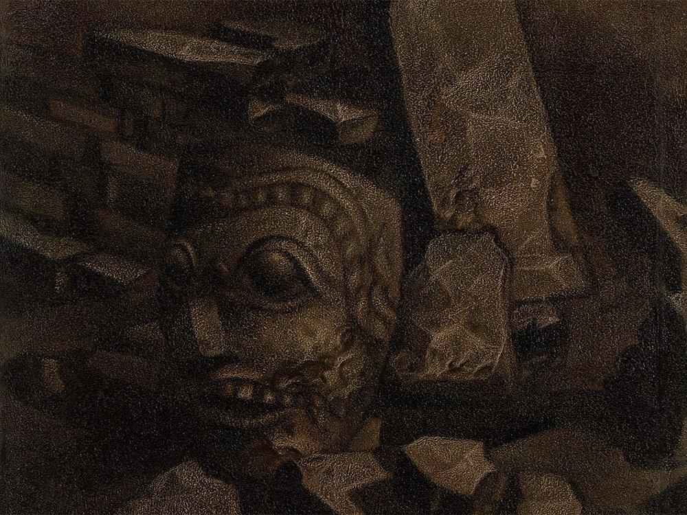 Koeboe Sarawan (b. 1961), Arca (Statue), Oil,