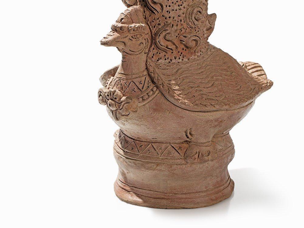 Terracotta Jar in Shape of a Hintha, Majapahit, - 2