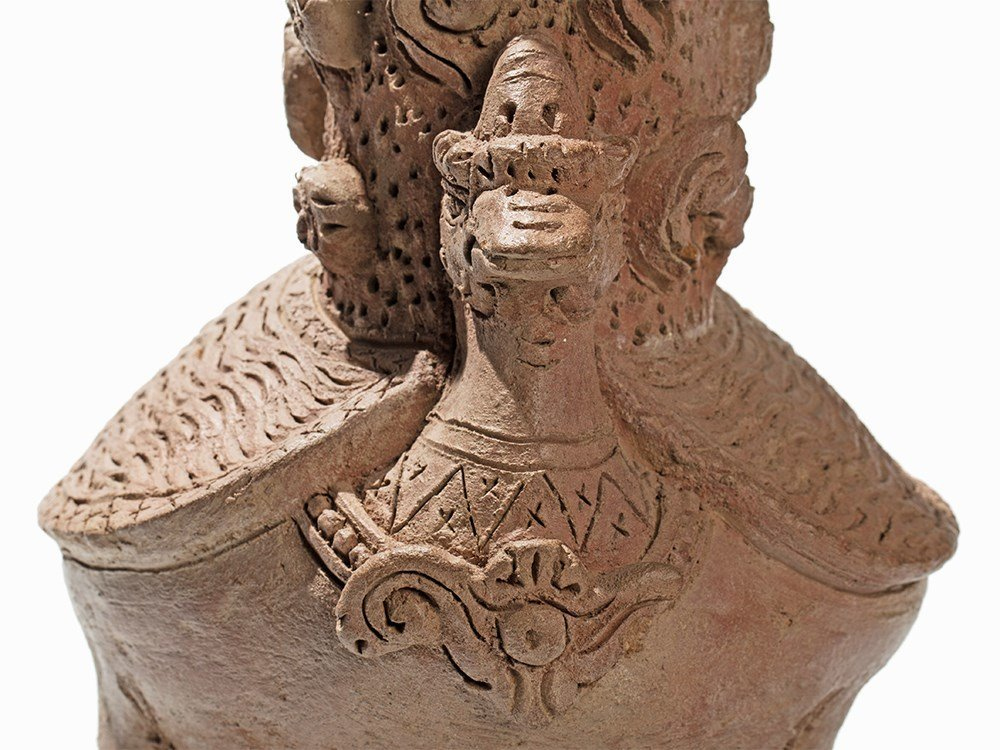Terracotta Jar in Shape of a Hintha, Majapahit, - 6