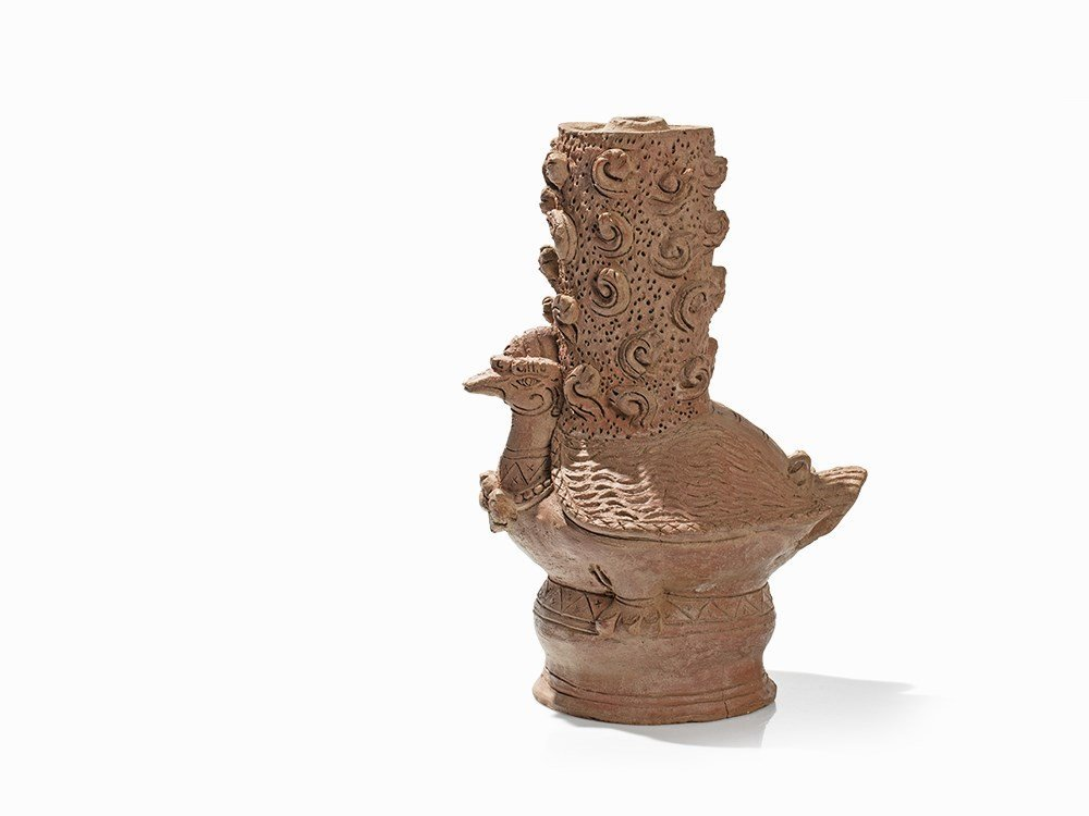 Terracotta Jar in Shape of a Hintha, Majapahit, - 7