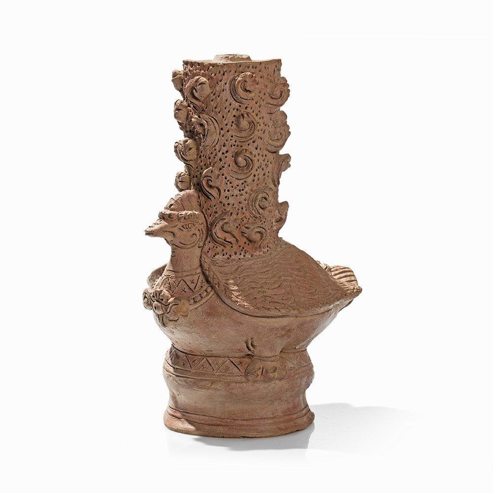 Terracotta Jar in Shape of a Hintha, Majapahit, - 9
