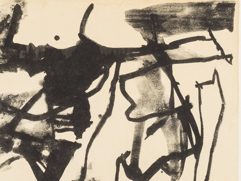 Afro Basaldella, Composition, Lithograph in Colors, 2nd