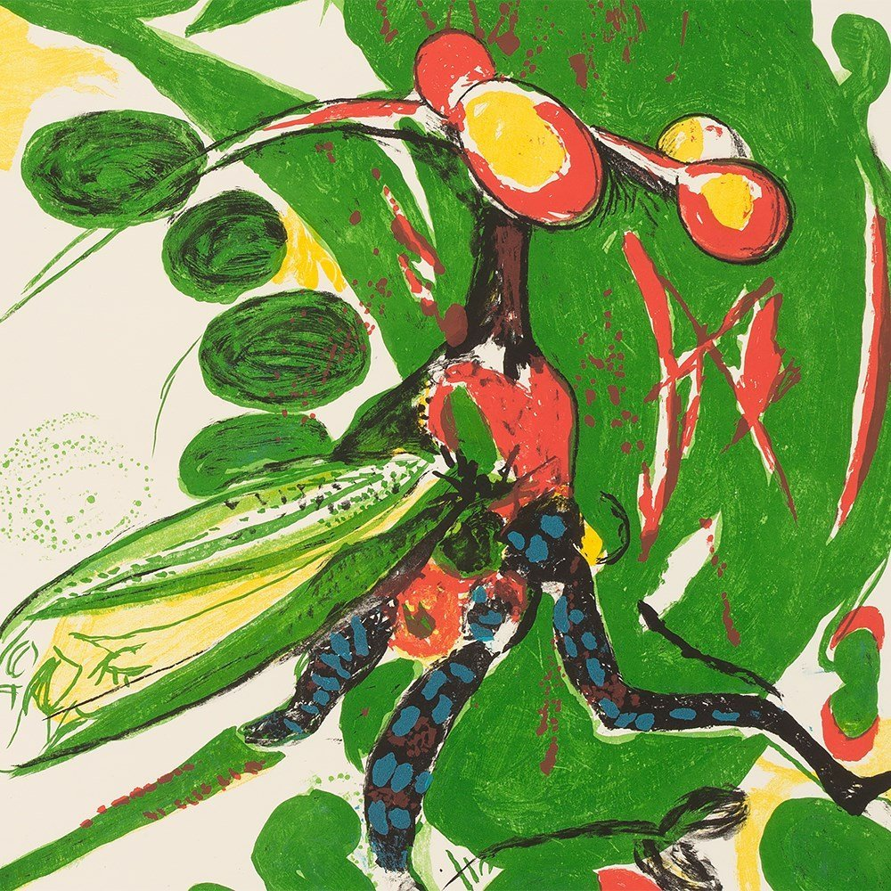 Graham Sutherland, Insect, Lithograph in Colors, - 10