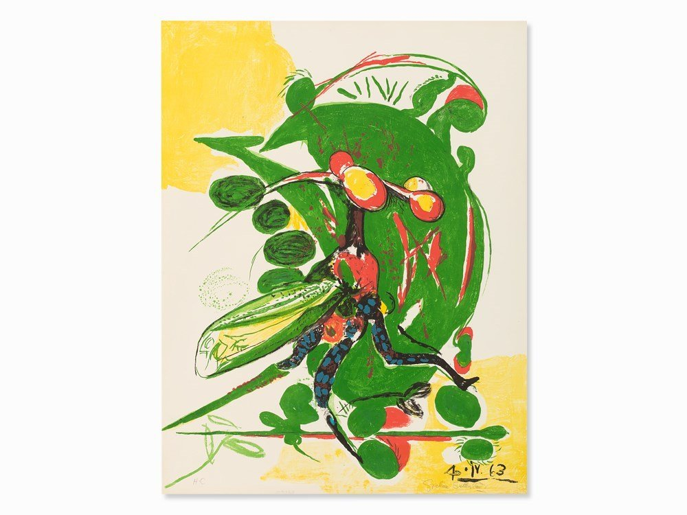 Graham Sutherland, Insect, Lithograph in Colors,