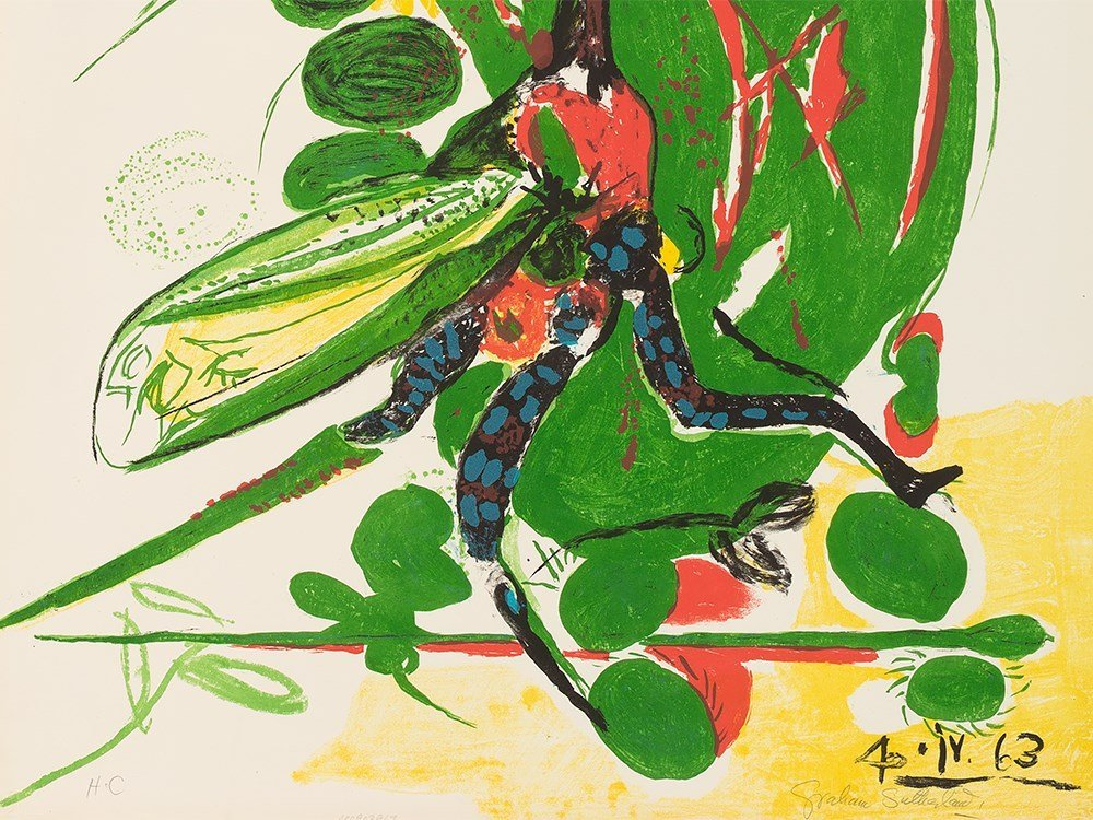 Graham Sutherland, Insect, Lithograph in Colors, - 2
