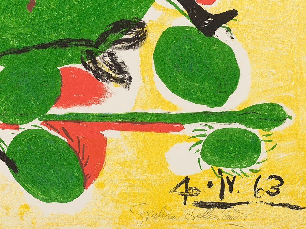 Graham Sutherland, Insect, Lithograph in Colors, - 3