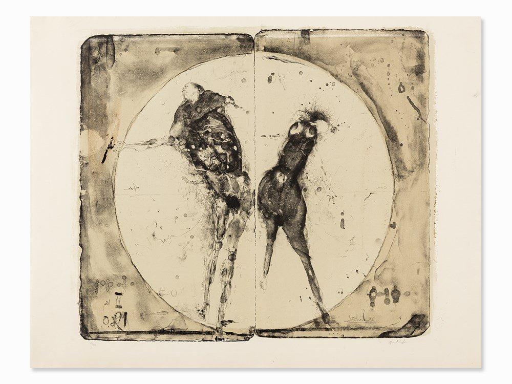 Paul Wunderlich, Adam und Eva, Lithograph, 1960
