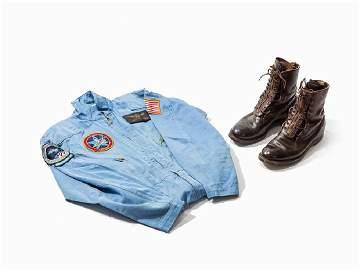 NASA Overall & Boots of Robert F. Overmyer, USA, 1980s