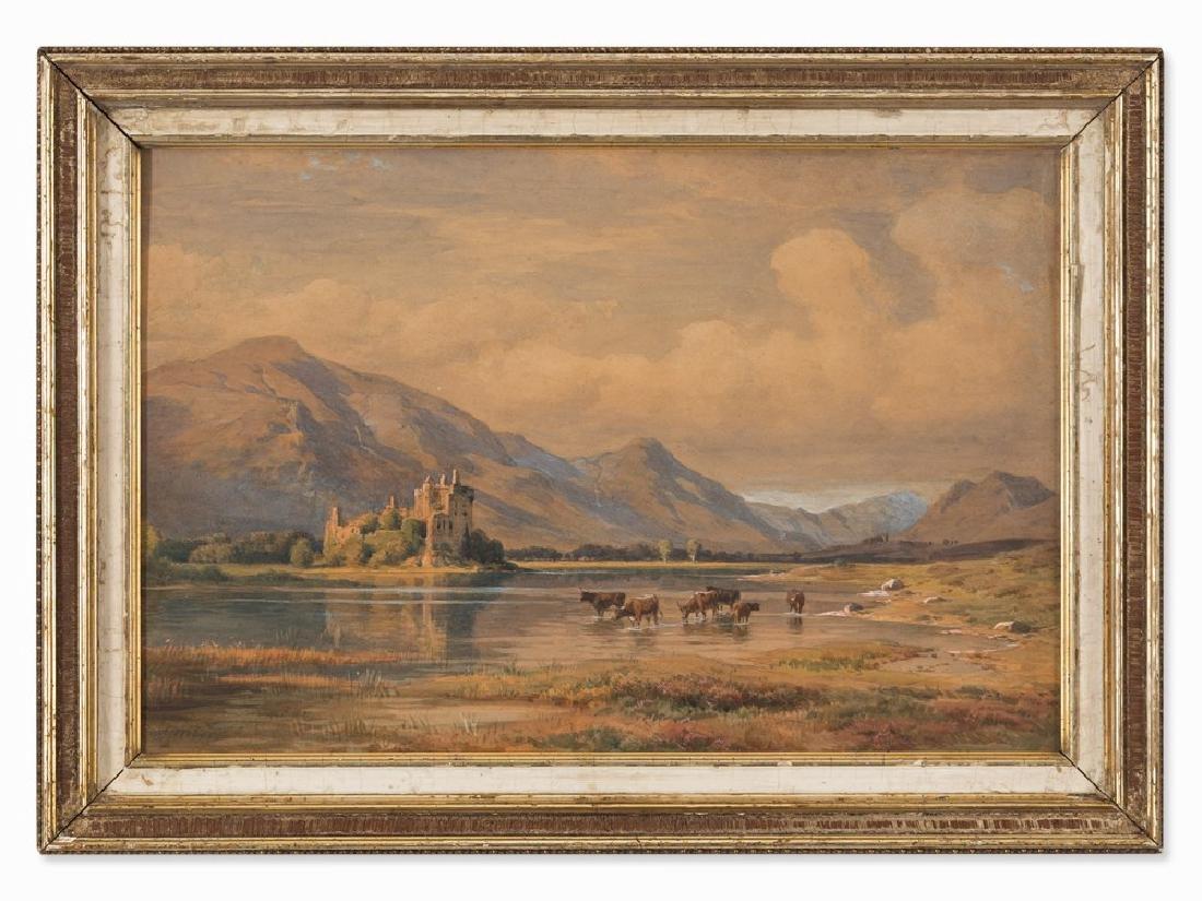Paul Weber (1823-1916), Castle at the Riverside,