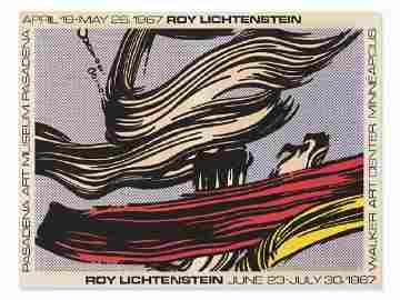 Roy Lichtenstein Exhibition Poster, Pasadena Art
