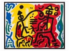 A.R. Penck, Mythen des Alltags, Color Serigraph, 1989