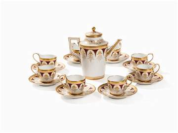 KPM, A Classicist Coffee Set for 8 People, 1800-1813
