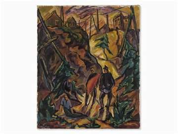 Otto Beyer, November Revolution, Oil Painting, 1919