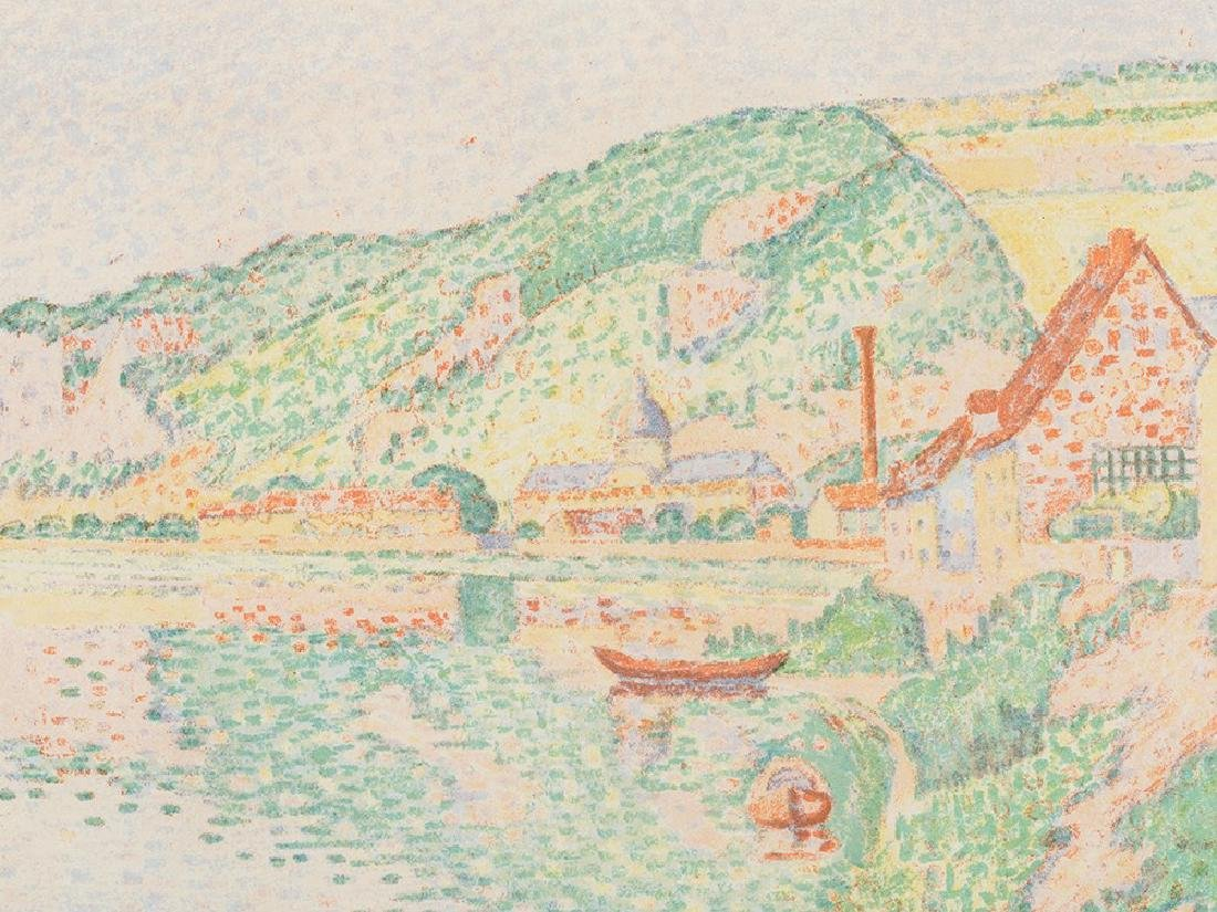 Paul Signac, Les Andelys, Lithograph in Colors, 1895