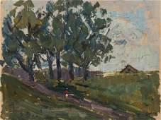 Aleksander Drevin (1889-1938), Walking Through the
