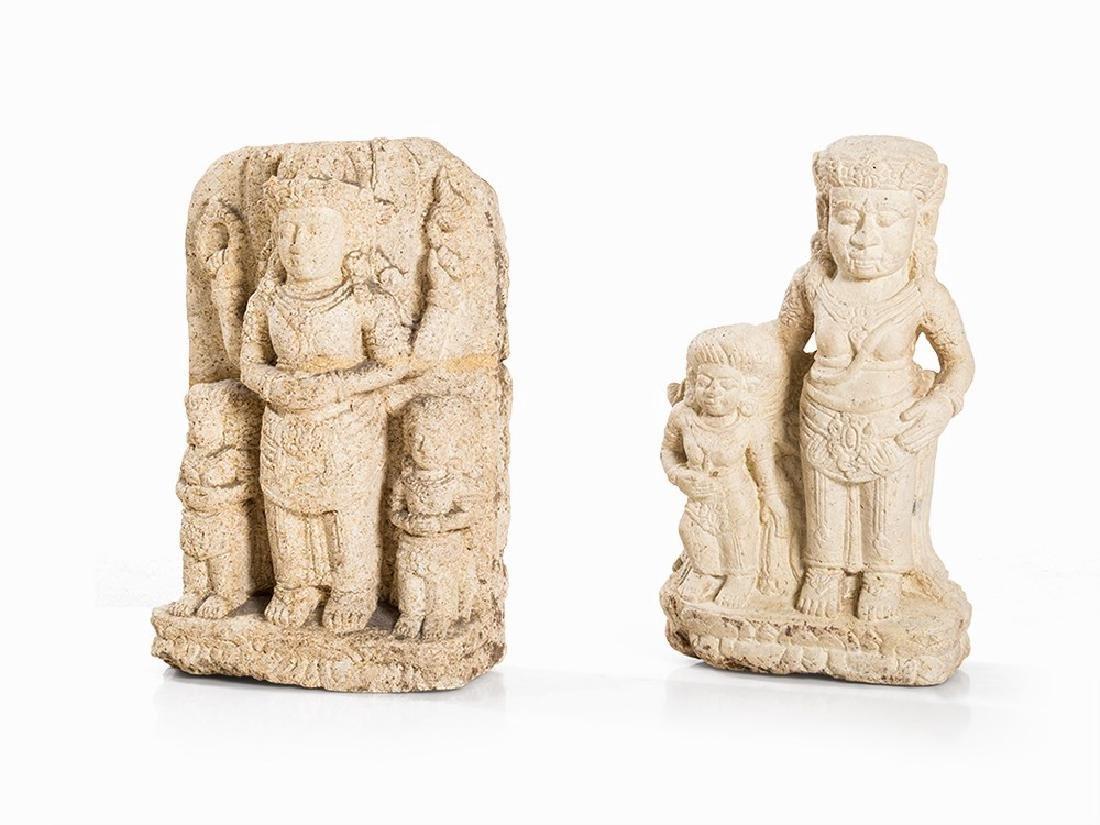 2 Tuff Stone Steles, Vishnu et al., 14th/15th C.