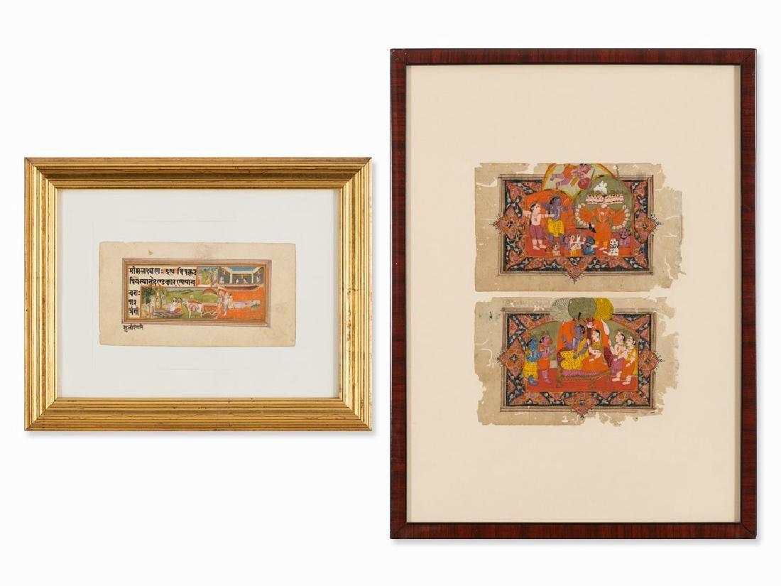 Convolut of Miniature Paintings of Ramayana, India,