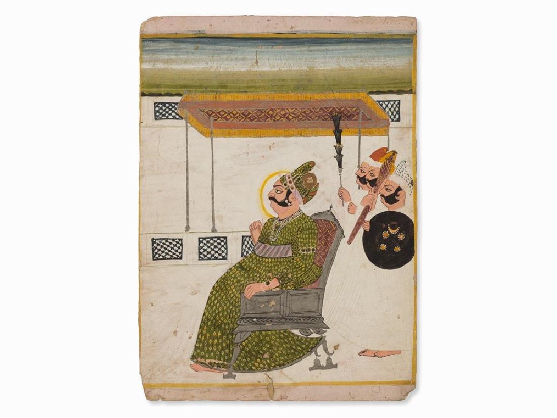 Miniature, Maharaja Bijay Singh of Jodhpur, ca.