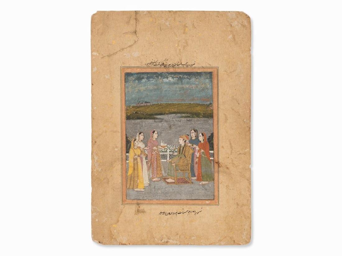 Miniature of a Double-Sided Muraqqa' Folio, Late 18th