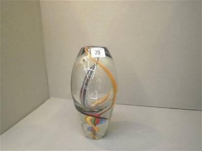 A decorative Murano style glass vase.