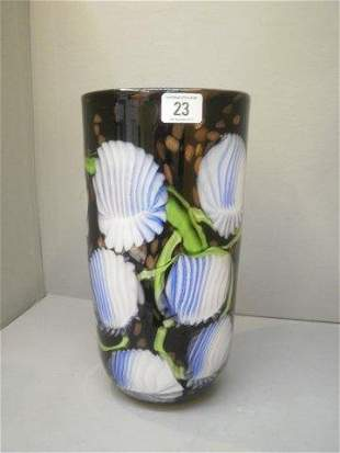 A large decorative Murano style glass vase.