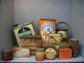 2: A selection of assorted early tins including Dettol