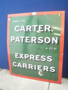 3: A Carter Paterson & Co. Express Carriers rectangular