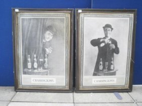 4: A pair of Charrington's 'George Roby' black and whit