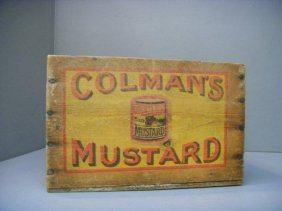 5: A Colman's Mustard wooden box with original painted