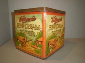 A Williams's New Cream Toffee Square Tin, In Excelle