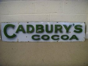 10: A pair of Cadbury's Cocoa and Chocolate  enamel sig