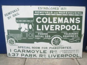 23: A rare Colemans Liverpool pictorial removal lorry e