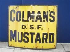 196: A Coleman's D.S.F. Mustard rectangular enamel sign