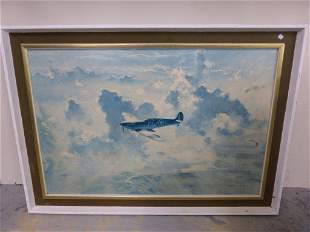 COULSEN - a framed print of a spitfire in flight and