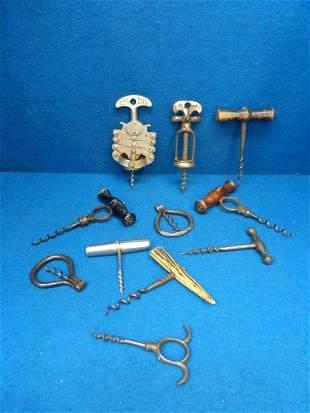 A group of interesting corkscrews including zigzag etc.