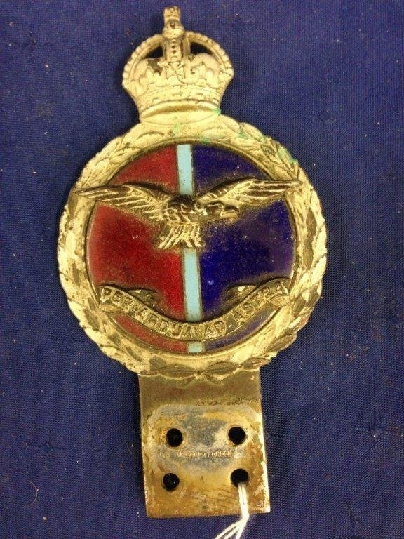A Royal Flying Corps - J.R. Gaunt London car badge.