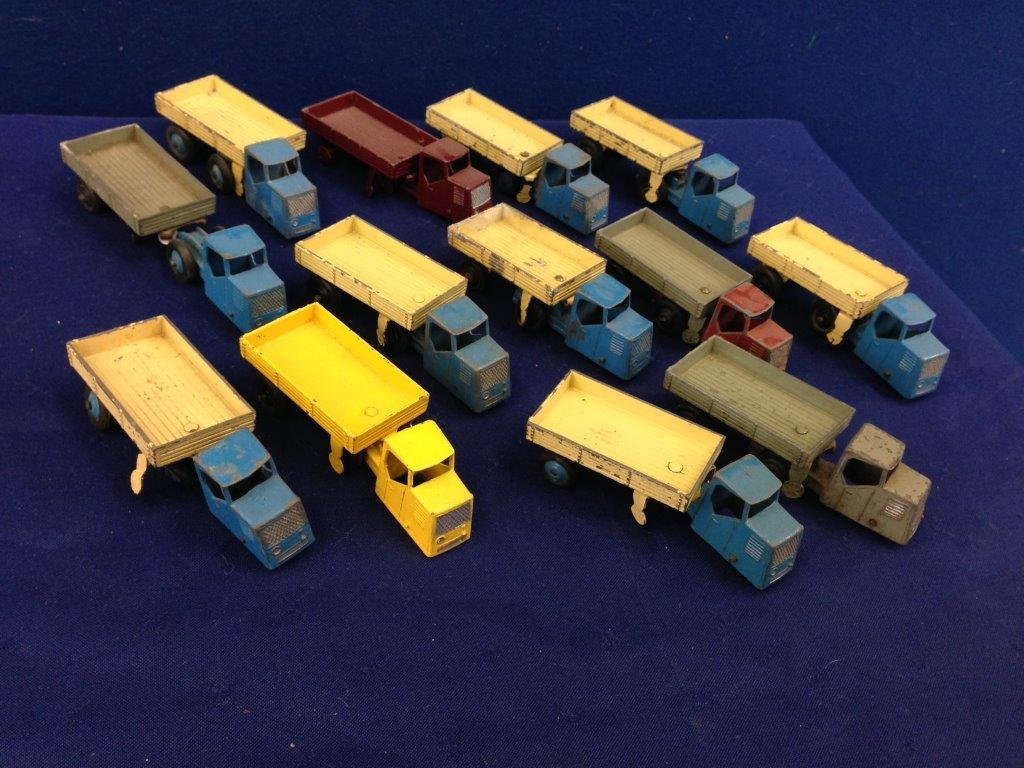 A selection of thirteen Dinky Toys, all articulated
