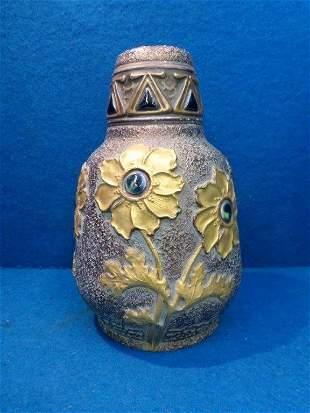 A decorative Alexandra Porcelain Works vase with