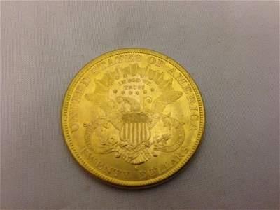 A USA 1885 (s) 20 dollar gold piece.