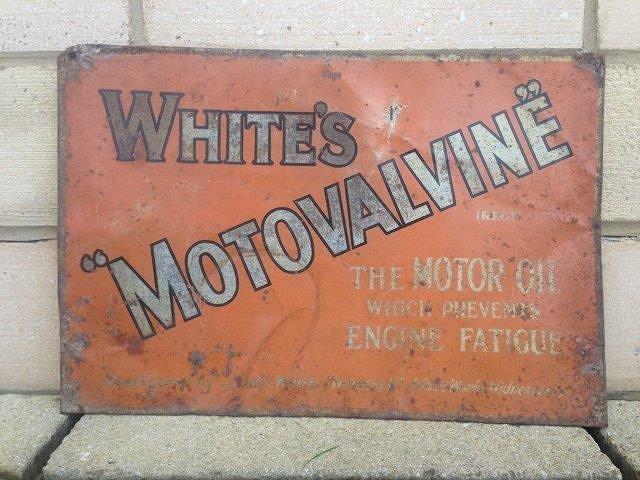 A White's 'Motovalvine' - The Motor Oil which prevents