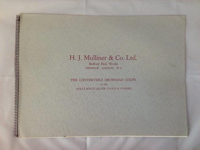 An H. J. Mulliner and Co. Ltd. convertible drophead