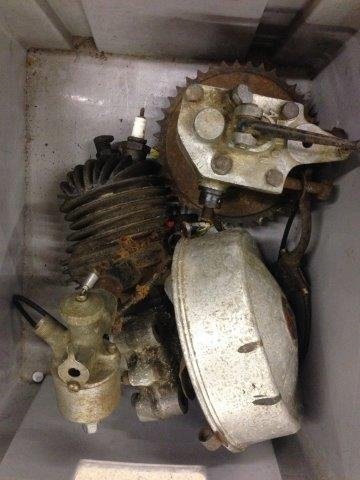 A Villiers VEC two stroke single cylinder engine