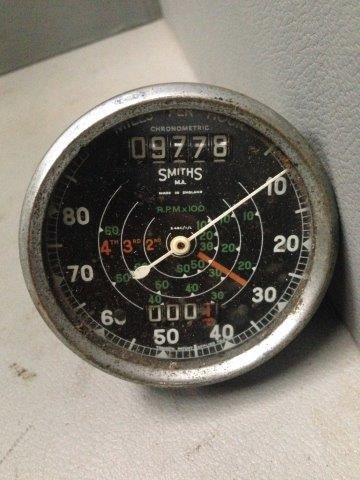 A Smiths chronometric 0-80 mph speedometer and combined